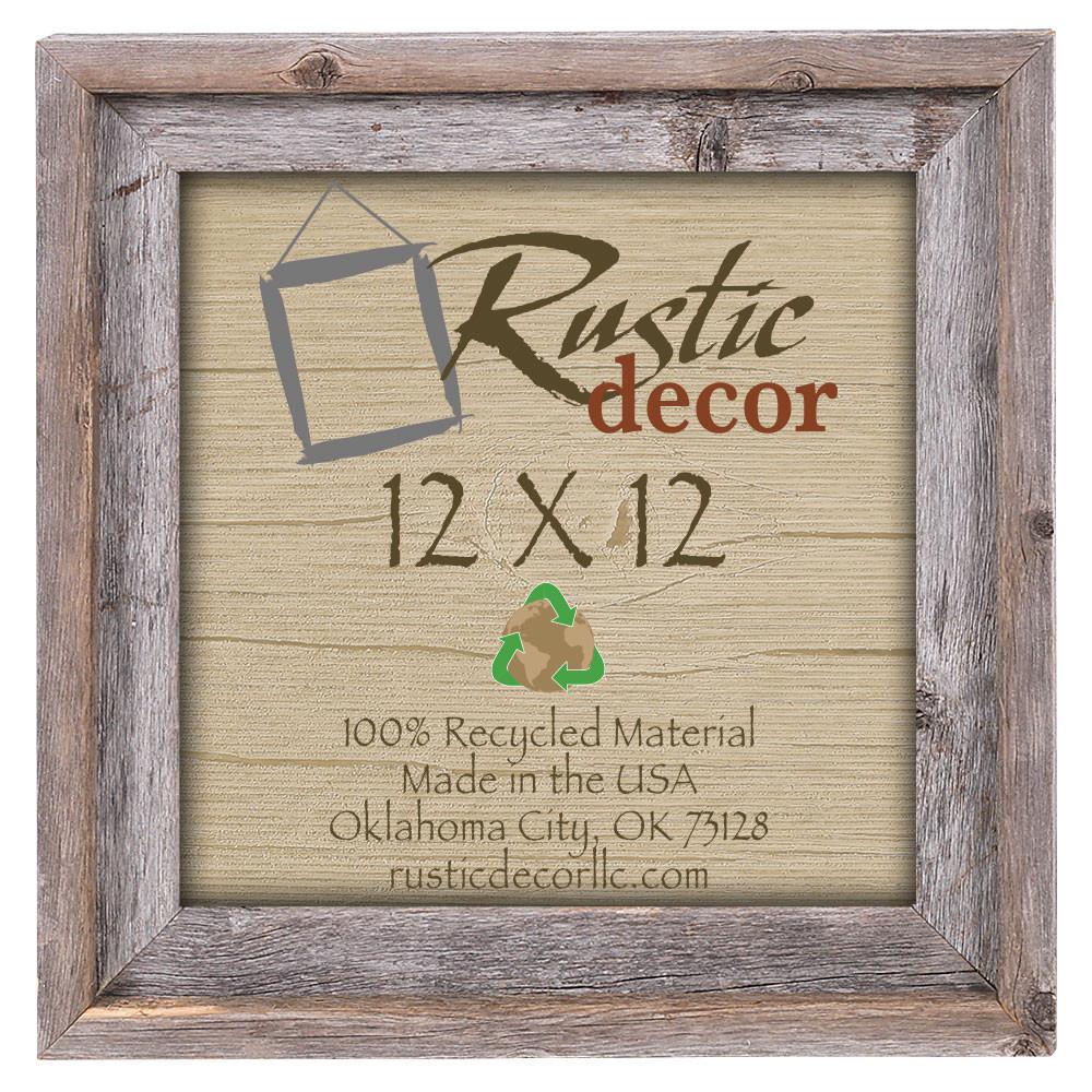 12x12 Rustic Reclaimed Barn Wood Signature Wall Frame Rustic Decor