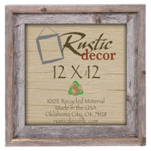 12x12 Rustic Reclaimed Barn Wood Signature Wall Frame
