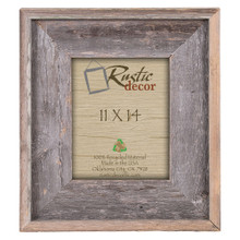 "11x14 Premium (4"") Rustic Reclaimed Barn Wood Wall Frame"