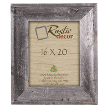 "16x20 Premium (4"") Rustic Reclaimed Barn Wood Wall Frame"