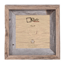 4x4 Rustic Reclaimed Barn Wood Signature Wall Frame