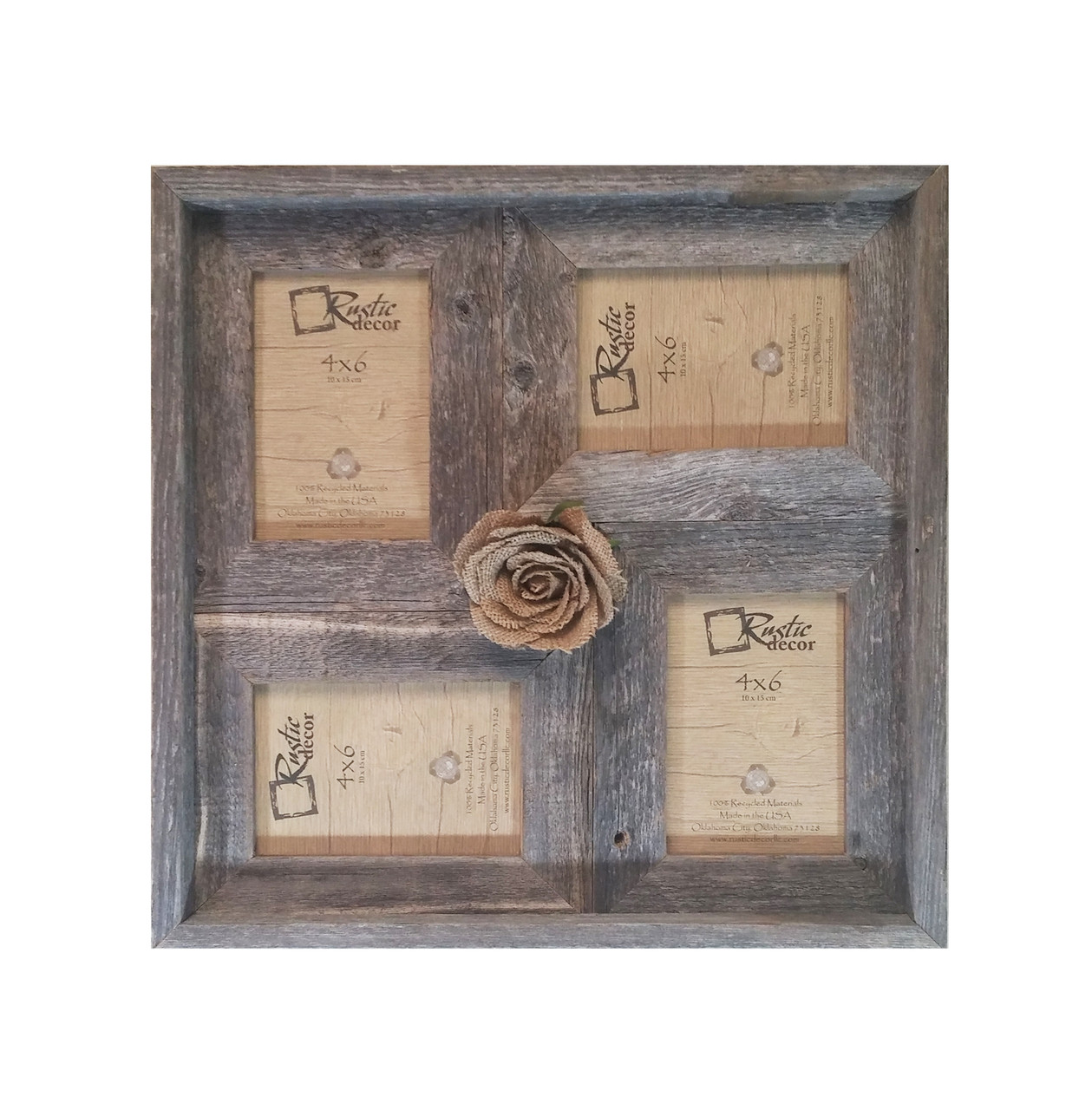 4x6 Multi Direction Rustic Barn Wood Collage Frame Rustic Decor