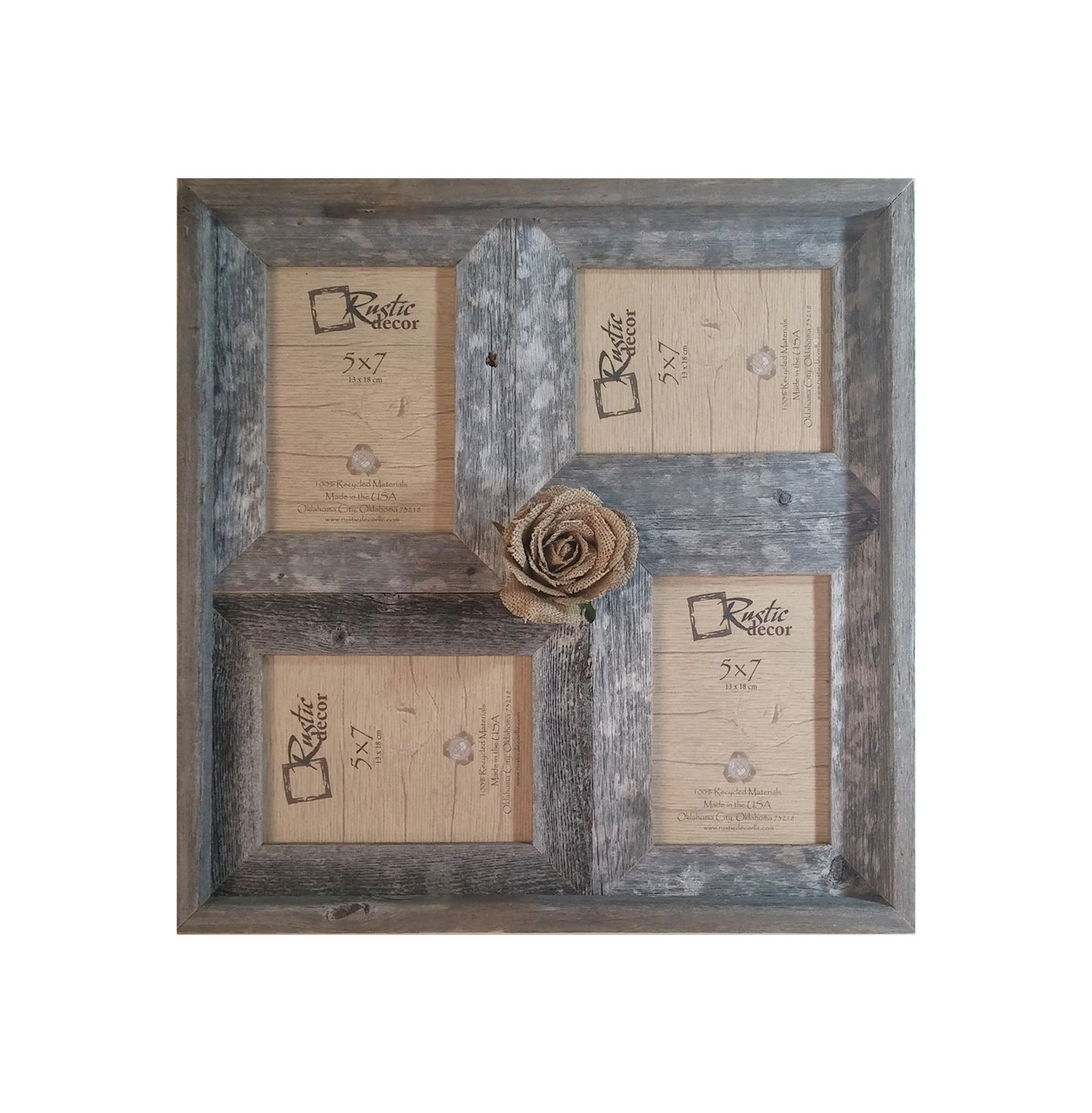 5x7 Multi Direction Rustic Barn Wood Collage Frame Rustic Decor