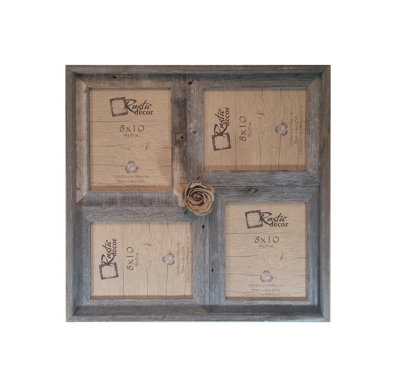 8x10 Multi-Direction Rustic Barn Wood Collage Frame - Rustic Decor
