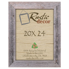 20x24 Rustic Reclaimed Barn Wood Extra Wide Wall Frame