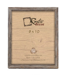 8x10 Rustic Barn Wood Deep Inset Photo Frame