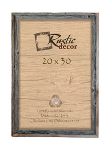 20x30 Rustic Reclaimed Barn Wood Signature Wall Frame
