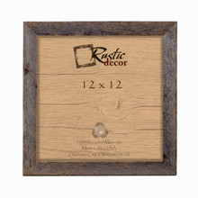 12x12  Rustic Barn Wood Standard Wall Frame