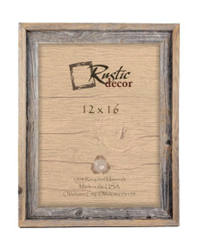 12x16 Rustic Reclaimed Barn Wood Signature Wall Frame