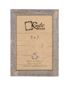 5x7 Rustic Barn Wood Deep Inset Photo Frame