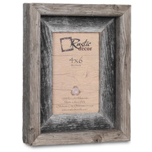4x6 Rustic Reclaimed Barn Wood Signature Photo Frame