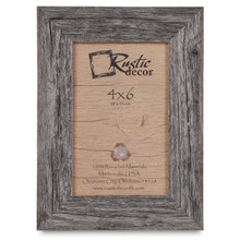 4x6 Rustic Reclaimed Barn Wood Standard Photo Frame