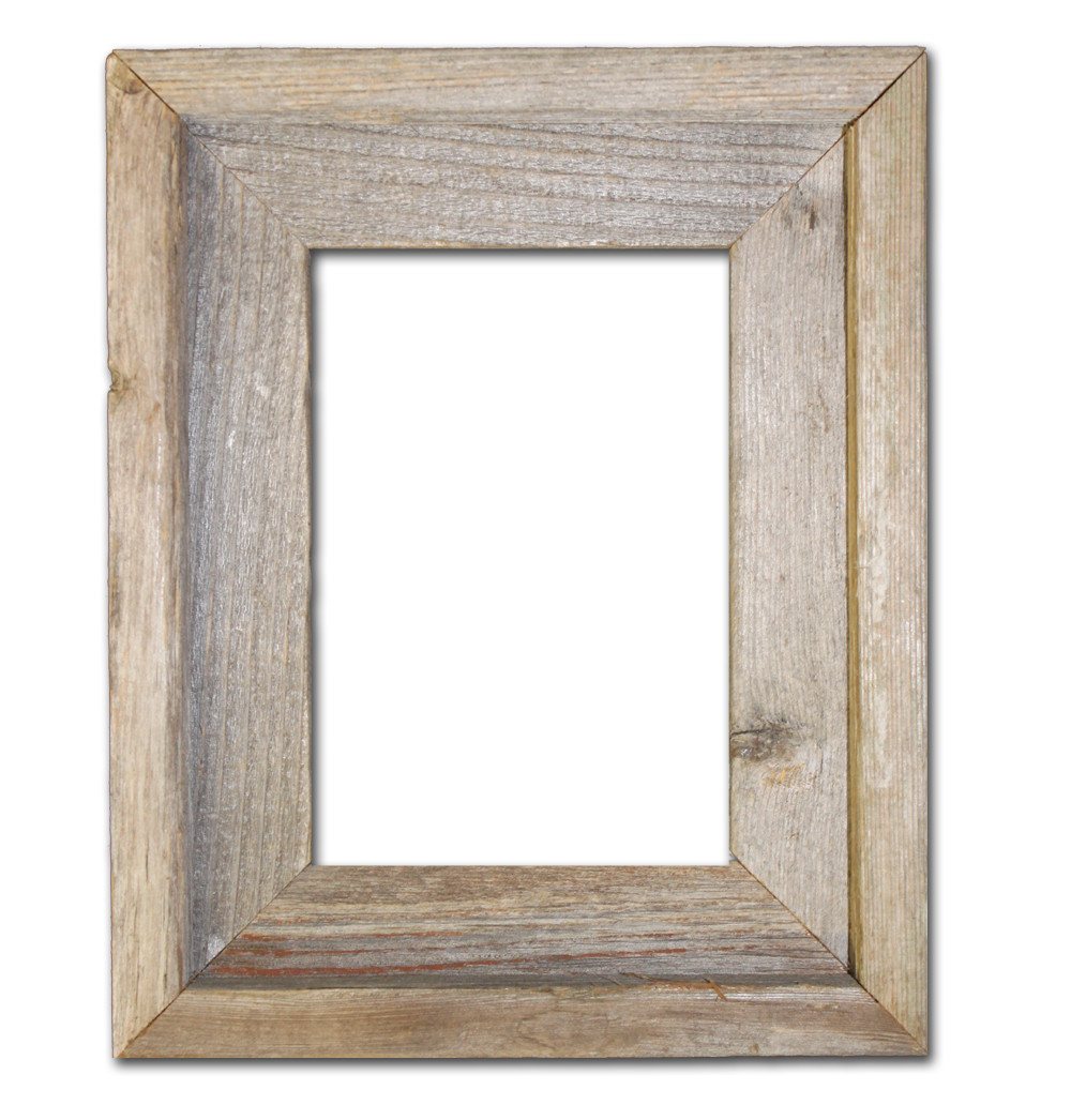 5x7 Picture Frames – Reclaimed Barn Wood Open Frame (No Glass or Back)