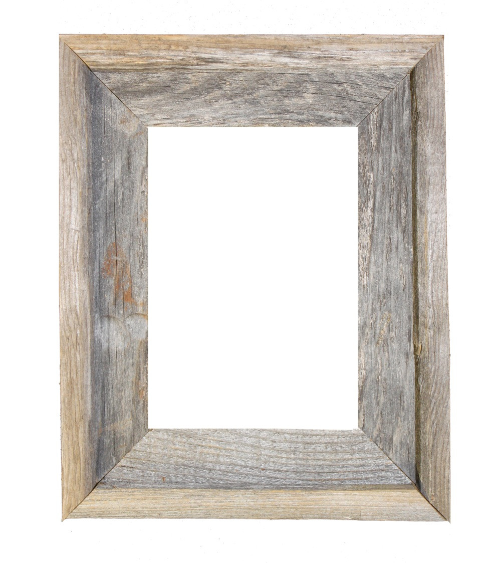 8x10 Picture Frames – Reclaimed Barn Wood Open Frame (No Glass or ...