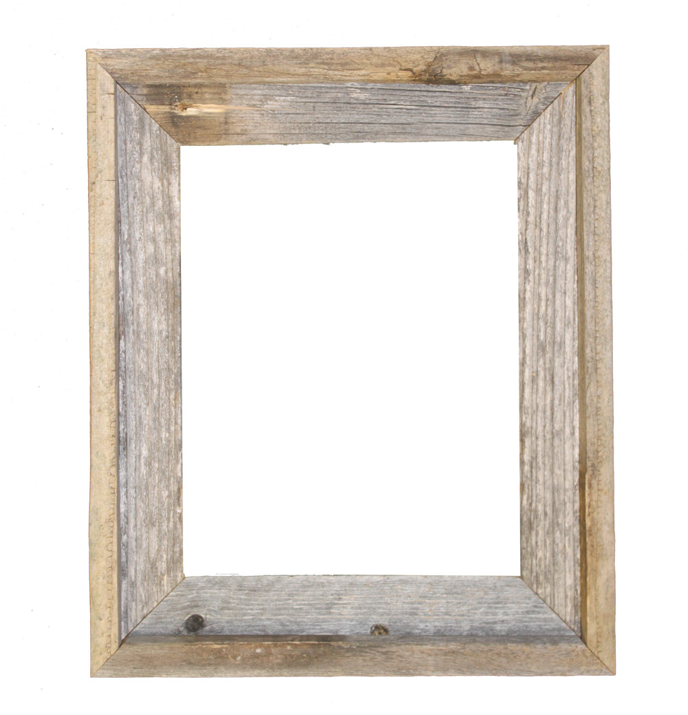 11x14 Picture Frames Reclaimed Barn Wood Open Frame No