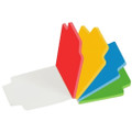 """Adhesive Notes with Tabs 2.75""""x 2.75"""" 100/pk - Color MERANGUE"""