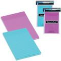 "Adhesive Lined Notes 4"" x 6"" 200/pk - Purple+Blue MERANGUE"