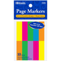 """Page Markers 1.75"""" x 0.5"""" 1000/pk - Assorted BAZIC"""