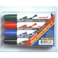 Dry-Erase Markers Chisel Tip 4/pk - Black, Blue, Green, Red MONAMI