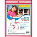 Clear Reusable Dry Erase Pocket 1pk - Red Trim
