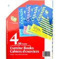 1-Subject C/R Exercise Books 16 Sheets/32 Pages 4/pk - APP