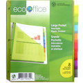 Insertable Color Plastic Pocket Dividers Color Tabs - 8 Tabs