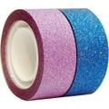 """Glitter Tape Pink & Blue  .71"""" x 100"""" (18mm x 2.5m) each roll SEAL-IT"""