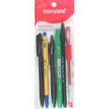 Mixed Pen (Ballpoint, FineLiner, Gel) 6/pk Assorted MONAMI