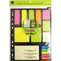 Binder Pack 125 Strips + 250 Adhesive Notes - Assorted BUFFALO
