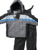 Rothschild 4-7 Boy's Extreme Riders 3-Piece Charcoal Snowsuit w/Bibs