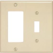 "Ivory Double Combo Deco Wall Plt""Pkg Of 25"""