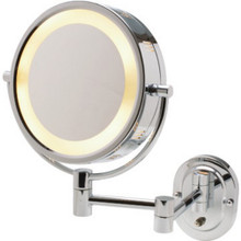 "8"" Wall Mount Lighted Mirror-Chrome-Dw"