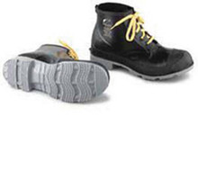 """Sz 8 Blk 6"""" Poly Pvc Workshoes Cleated"""