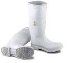 Boot White Pvc 16In Steel Toe