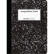 Comp Book7 Wide Blk/Wh 100Shts