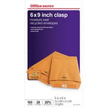 """Clasp Envelopes 6""""X9"""" Br """"Pkg Of 100"""""""