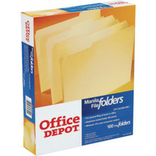 "File Folders Letter Tan ""Box Of 100"""