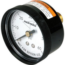 0-60 Psi Pressure Gauge - Back Mount