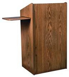 Aristocrat Floor Lectern, Walnut