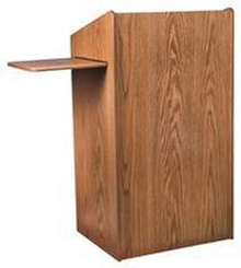 Aristocrat Floor Lectern, Med Oak
