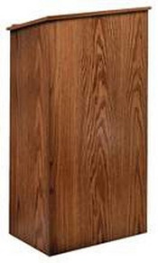 Full Floor Lectern, Walnut