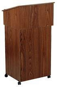 Combo, Lectern Base-A/V Cart, Walnut