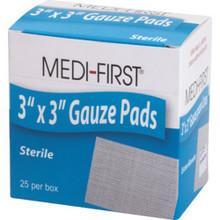 "3 X 3 Sterile Gauze Pads ""Pkg Of 25"""
