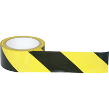 "2"" X 18 Yd Black/Yellow Hazard Tape"