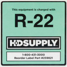 """R-22 Adhesive Backed Labels """"Pkg Of 10"""""""