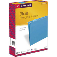 "Color Hng Folders Lgl Blue ""Pkg Of 25"""