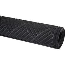 4 X 6' Cross Hatch Indoor Mat Onyx