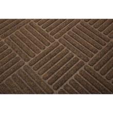4 X 6' Cross Hatch Indoor Mat Walnut