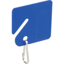 "Blue Plastic Key Tags ""Pkg Of 20"""