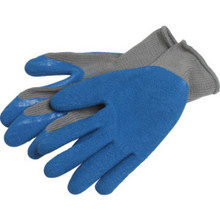 "Blue Latex Grip Palm Glove ""Pkg Of 3 Pr"""